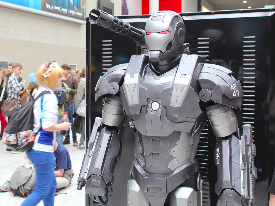 some-cosplay-outfits-couldve-been-lifted-straight-from-the-films-one-guy-had-a-war-machine-costume-from-the-marvel-series-iron-man